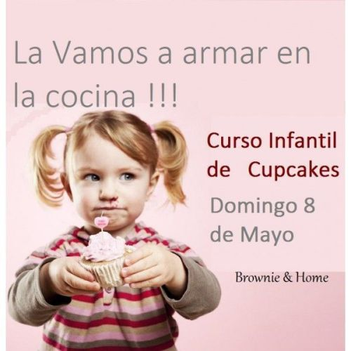 Curso infantil de cupcakes en Brownie and home