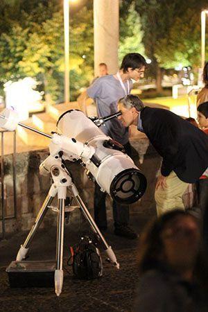 Observación nocturna en la Primavera Científica