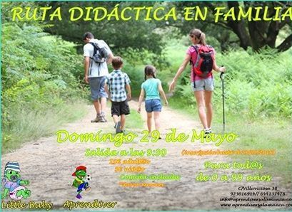 Ruta didáctica en familia con Aprendiver
