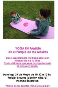 Yoga en familia en el Parque de Los Jesuitas