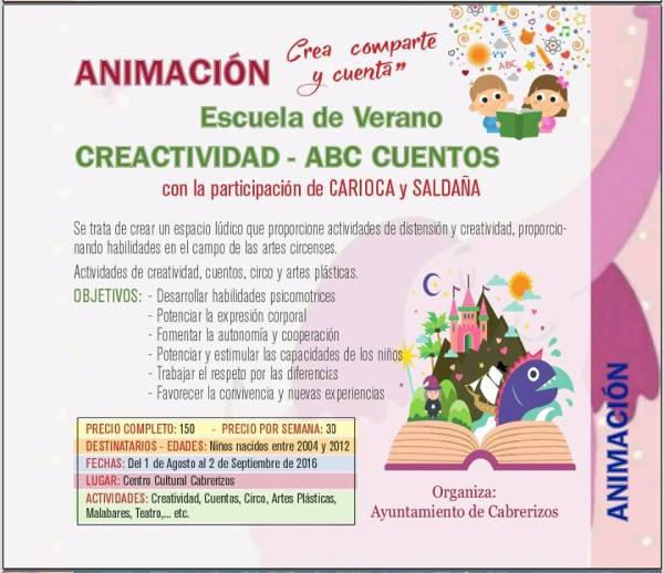 Escuela de Verano con Saldaña y Carioca en Cabrerizos