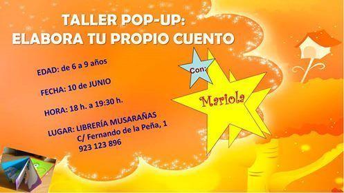 Taller de cuentos pop up con Mariola Lozano en la librería Musarañas