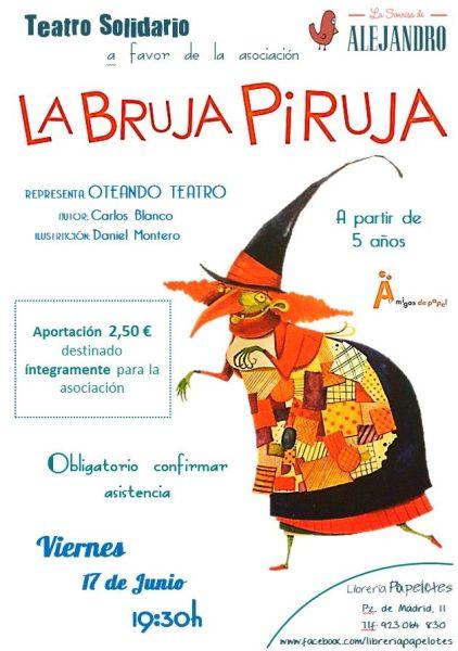 """Teatro Solidario de """"La Bruja Piruja"""" en la librería Papelotes"""