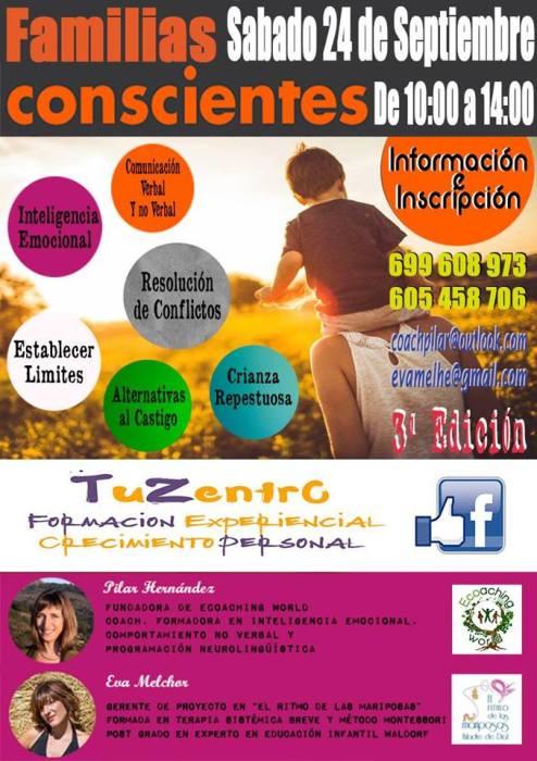3ª edición del taller Familias Conscientes en TuZentro-Salamanca