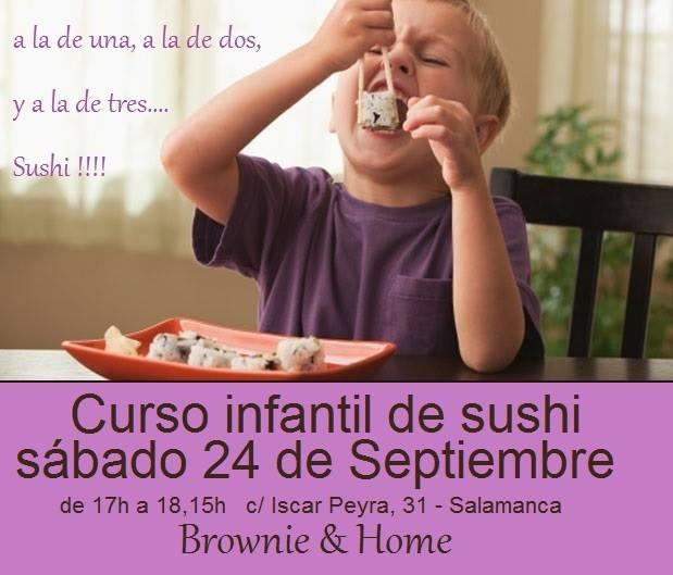 Curso infantil de sushi Brownie & Home de Salamanca