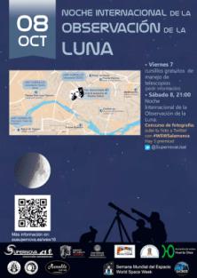 Observación de la Luna con telescopios repartidos por toda la ciudad de Salamanca