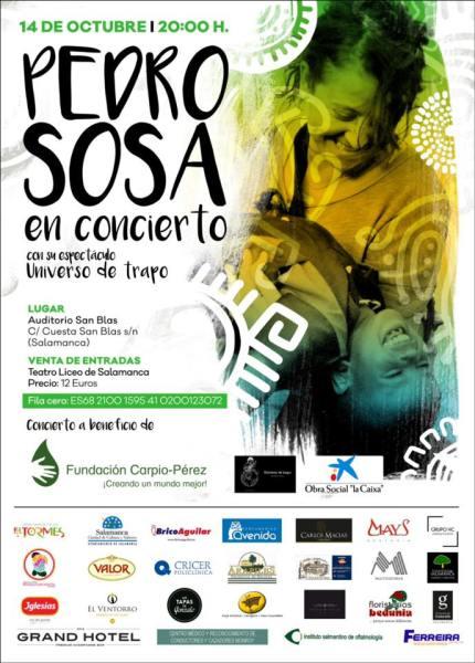 Concierto de Pedro Sosa y su Universo de Trapo a favor de la Fundación Carpio Pérez