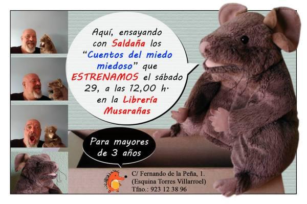 Cuentacuentos infantil de Fernando Saldaña en Musarañas