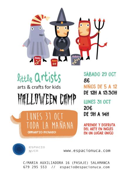 Disfruta de los talleres infantiles de arte en inglés de Halloween en Espacio Nuca