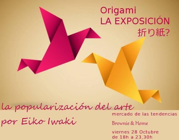 Expo de Origami en el Mercado de Tendencias de Brownie & Home en Salamanca