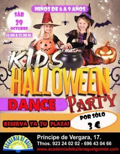 Halloween Dance Party para niños en la Academia de baile de Raquel Gómez