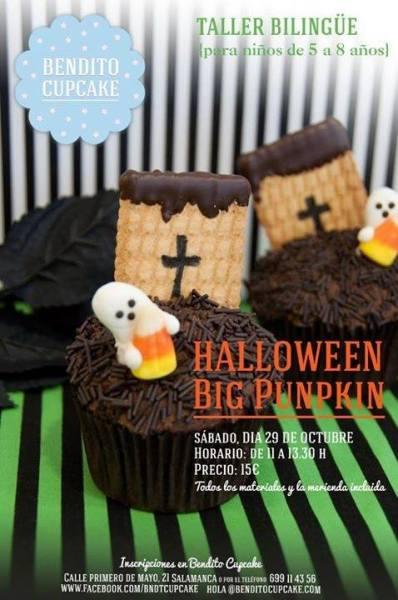 Taller infantil de Halloween en Bendito Cupcake