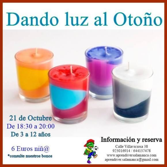 """Taller infantil en Aprendiver Salamanca """"Dando luz al otoño"""""""