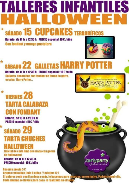 Talleres de Halloween en Tarty Party