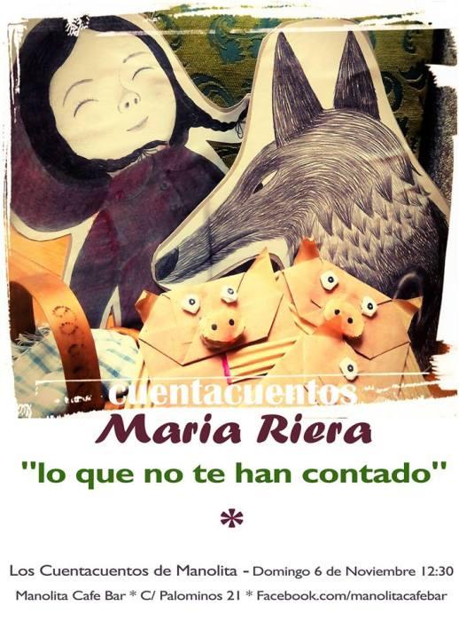 Cuentacuentos de María Riera en el Café Manolita