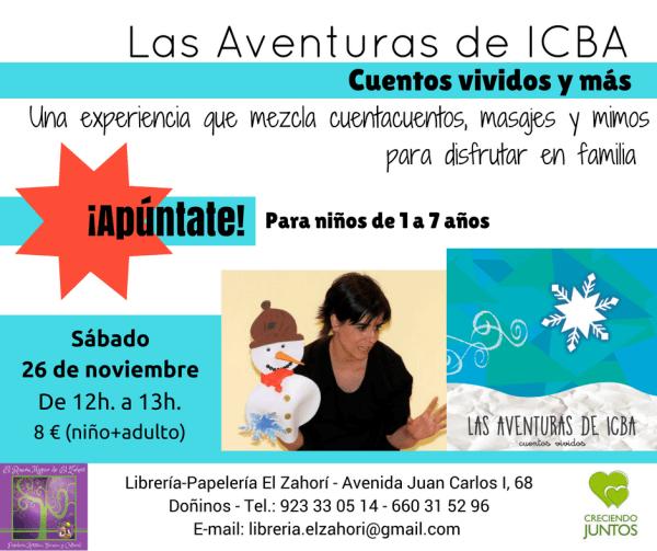 """Cuentos vividos """"Las aventuras de ICBA"""""""