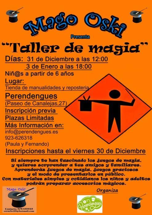 Taller de magia en Perendengues para acabar el año