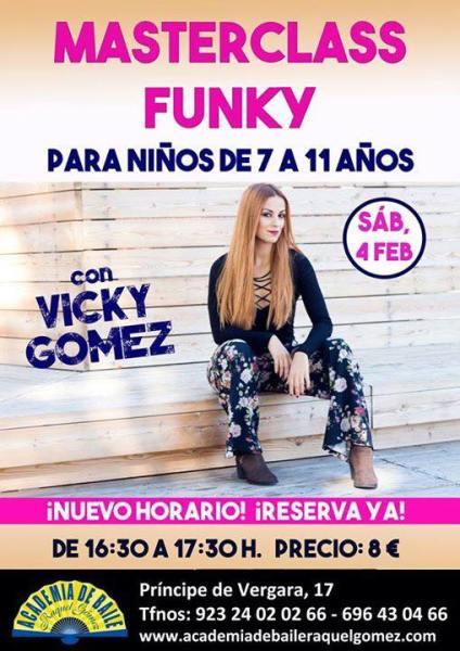 Mascterclass de funky con Vicky Gómez en la Academia de Raquel Gómez