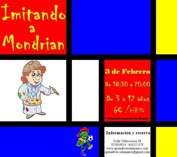 """Taller """"Imitando a Mondrian"""" en Aprendiver"""
