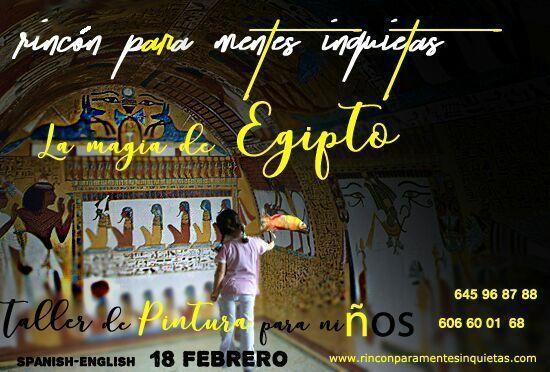 Taller de arte la magia de Egipto en El Rincón para Mentes Inquietas