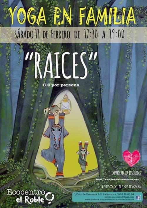 Yoga en familia en Ecocentro El Roble este sábado 11 de febrero