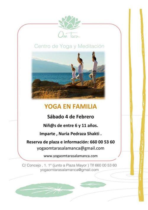 Yoga en familia en el Centro Om Tara