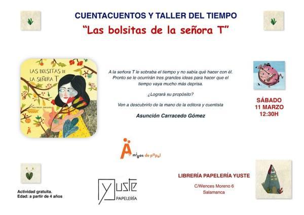 Cuentacuentos y taller del tiempo con Asunción Carracedo en Librería Yuste