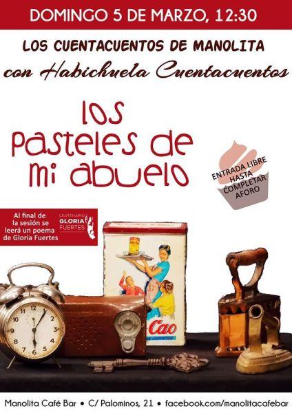 Habichuela cuenta Los pasteles de mi abuelo en el Café Manolita este domingo