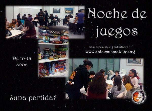 Noche de juegos con Salamanca a tope este viernes para niños de 10 a 13 años