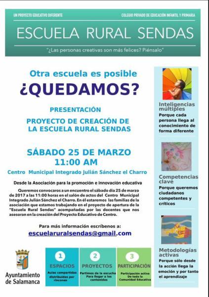 Presentación del proyecto de creación en Salamanca de la Escuela Rural Sendas