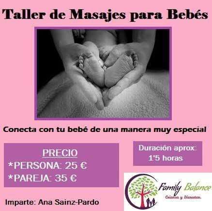 Taller de masaje para bebés en Family Balance