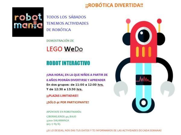 Taller de robótica divertida con Robotmanía
