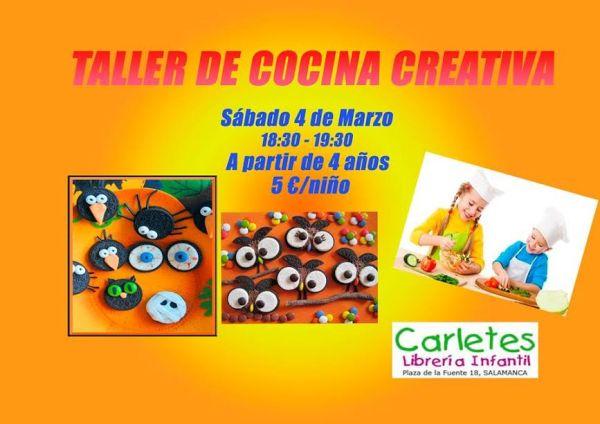 Taller infantil de cocina creativa en la librería Carletes de Salamanca