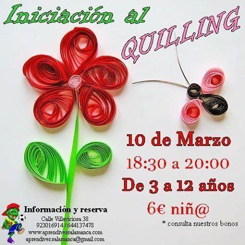 Taller infantil de iniciación al quilling en Aprendiver