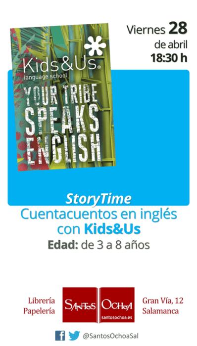 StoryTime de Kids&Us en la librería Santos Ochoa de Salamanca