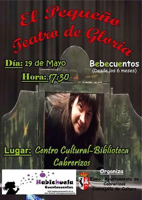 Cuentacuentos sobre Gloria Fuertes con Habichuela en Cabrerizos