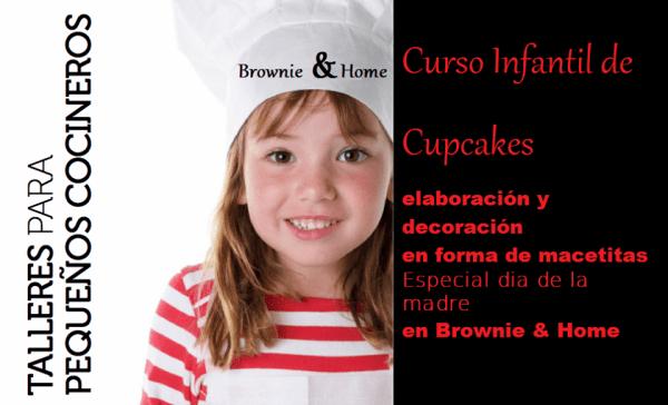Taller infantil de cupcakes en el Día de la Madre en Brownie & Home