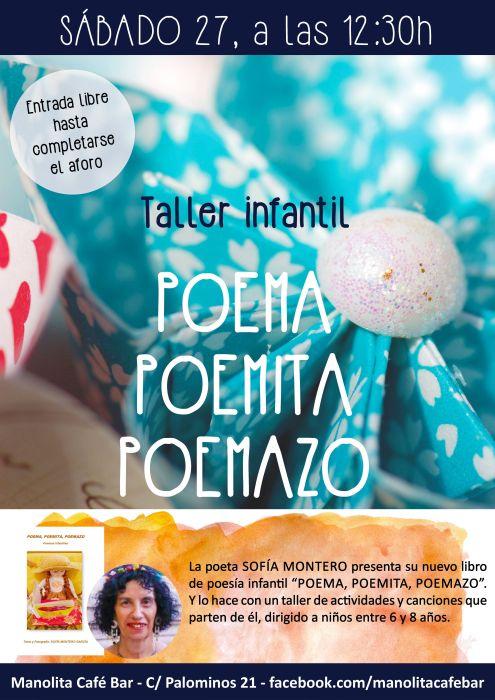 Taller infantil Poema Poemita Poemazo en el Manolita