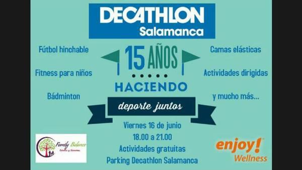 Decathlon celebra sus 15 años en Salamanca