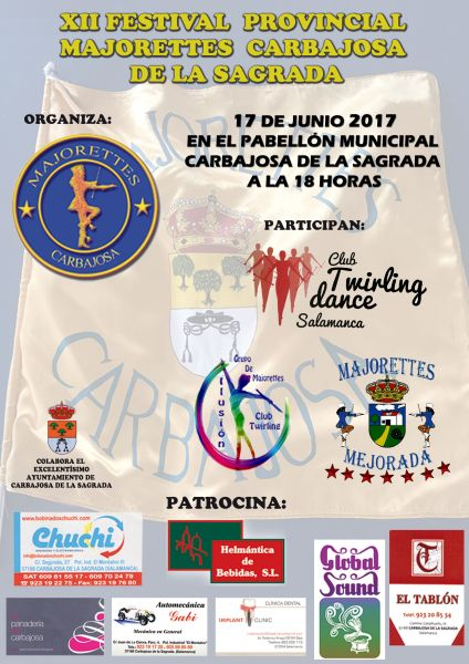 Festival provincial de majorettes en Carbajosa