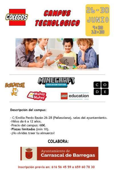 Campus Tecnológico con Colegos en Carrascal de Barregas