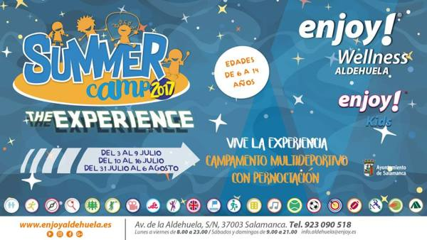 Summer Camps en Enjoy Wellness con pernoctación