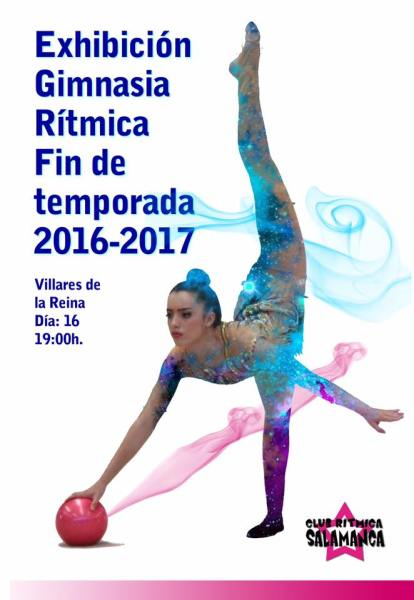 Exhibición de gimnasia rítmica en Vilalres de la Reina