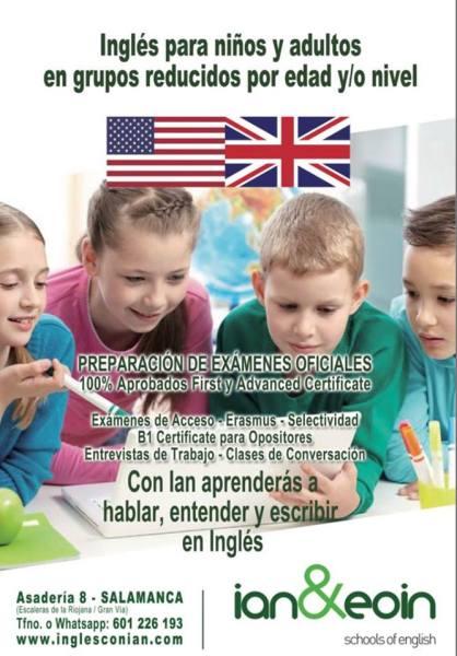 Ian & Eoin, inglés para niños y adultos en grupos reducidos