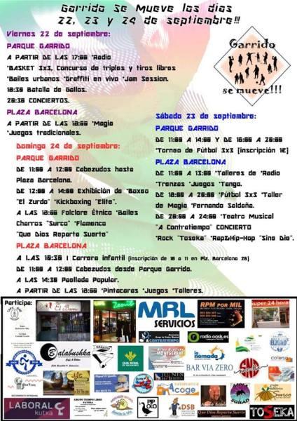 Participa en las actividades que organizan este finde en Salamanca la plataforma Garrido Se Mueve