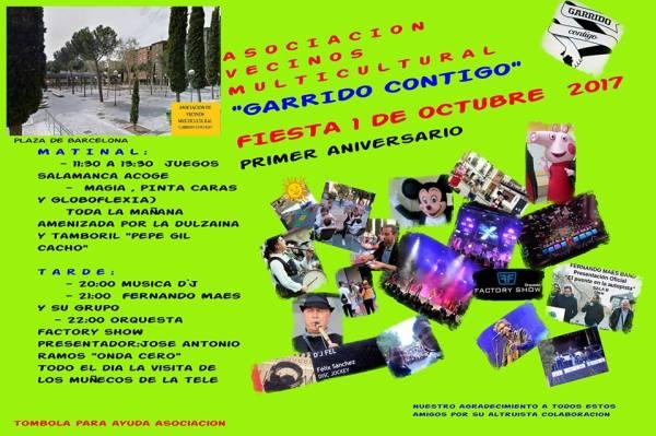 La Asociación Garrido Contigo celebra su primer aniversario y lo celebra este domingo con actividades para toda la familia en la plaza de Barcelona de Salamanca