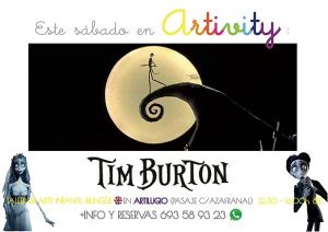 Tim Burton visita el Artivity en Halloween