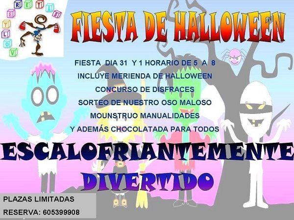 Fiesta infantil de Halloween en Volteretas