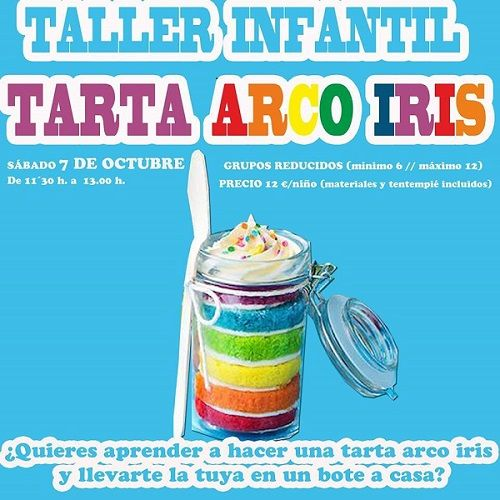 Taller infantil de tarta arco iris en Tarty Party Salamanca