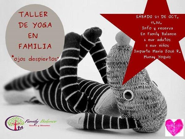 Taller de yoga en familia en Family Balance con Munay Yoguis
